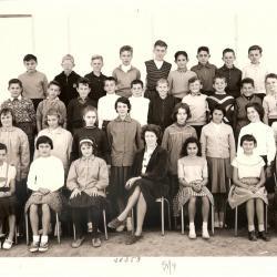 1959-60 5M4 avec Mme Chamla