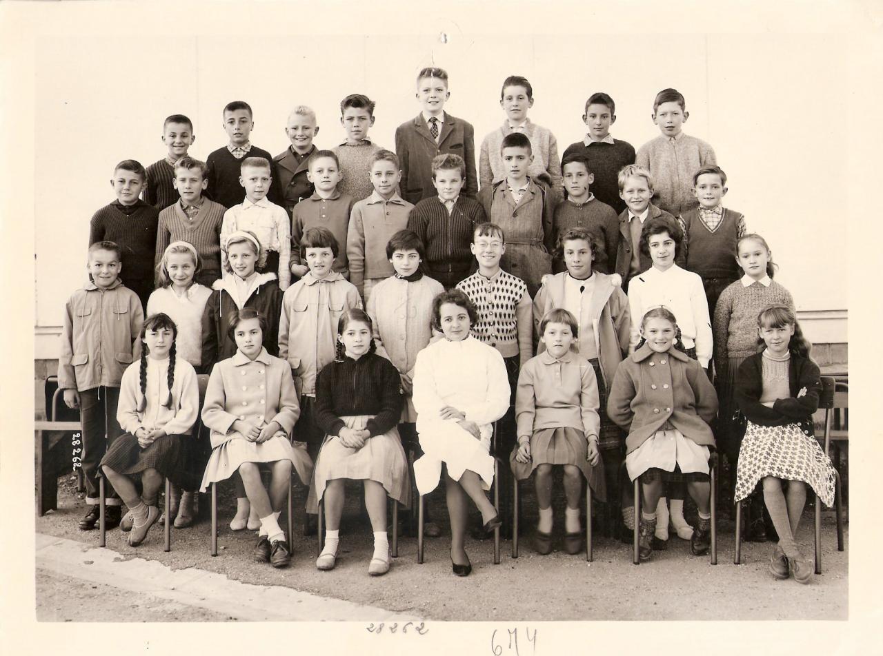 1959-60 6M4 avec Mme Aron