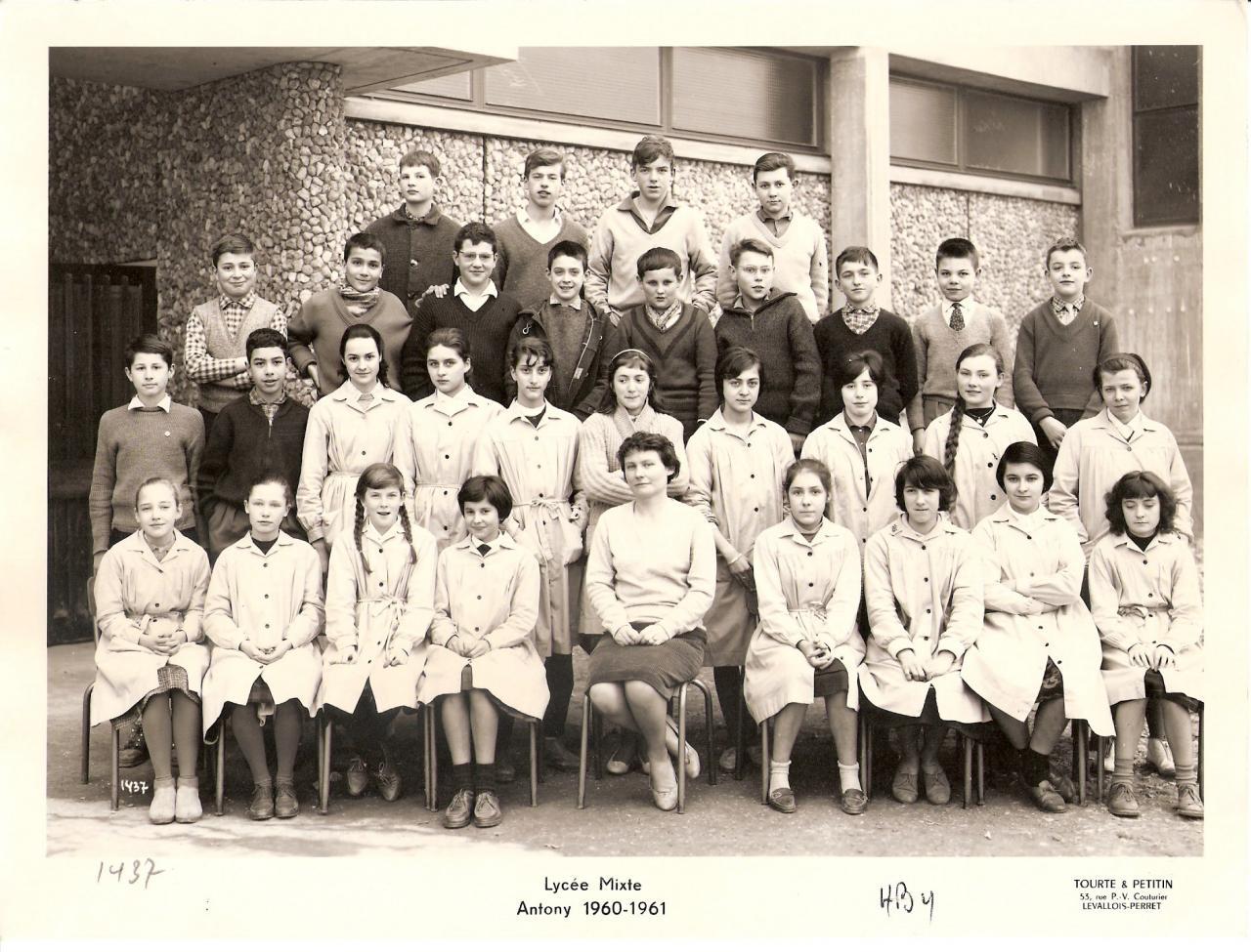 1960-61 4B4 avec Mme Lebouteux