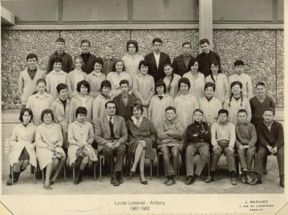 1961-62 - 3M3, avec M. Marquetti (It) et une prof (Esp)
