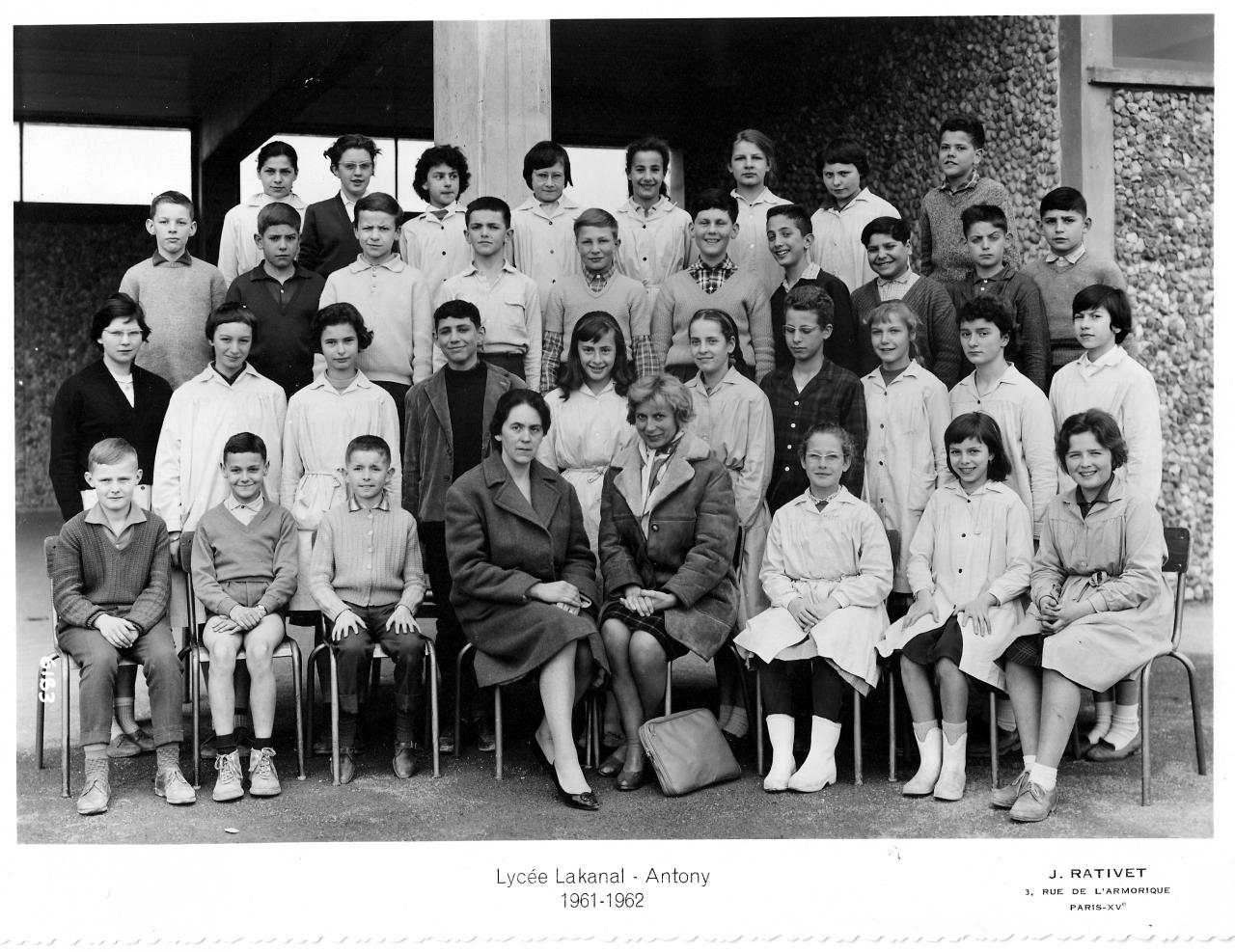 1961-62 - 5A1, avec Mesdames Viéthel (All) et Soumpf (Fr).