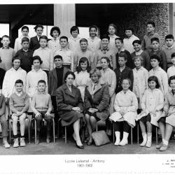 1961-62 - 5A1, avec Mesdames Vietel (All) et Soumpf (Fr).