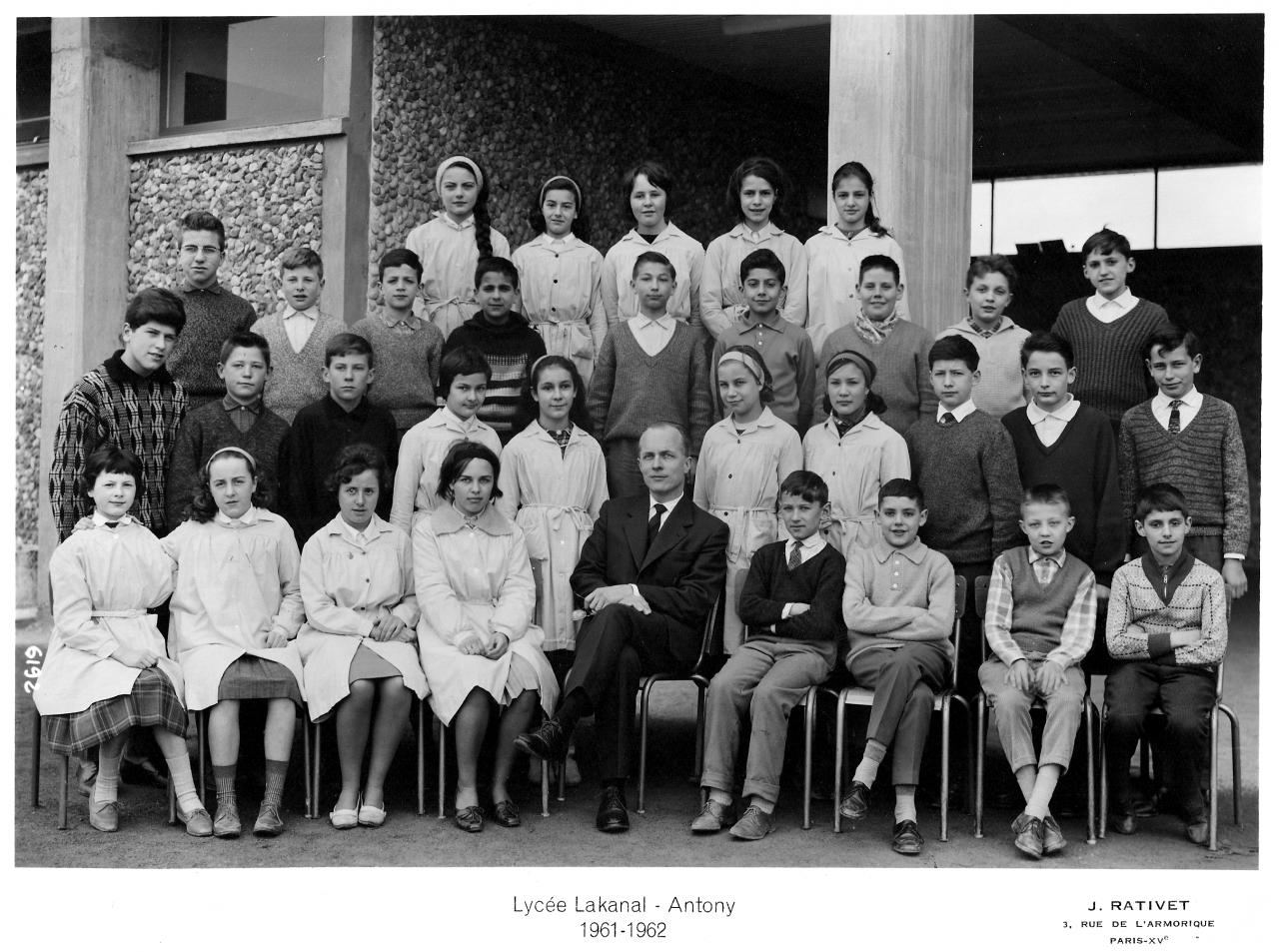 1961-62 - 5A6, avec Monsieur Jean