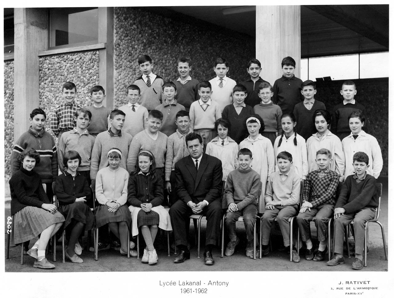 1961-62 - 5A8, avec Monsieur Coggia