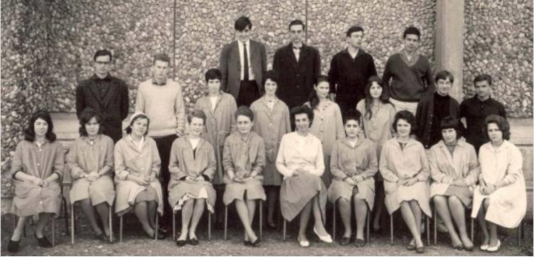 1962-63 1M2, avec Madame Eymard