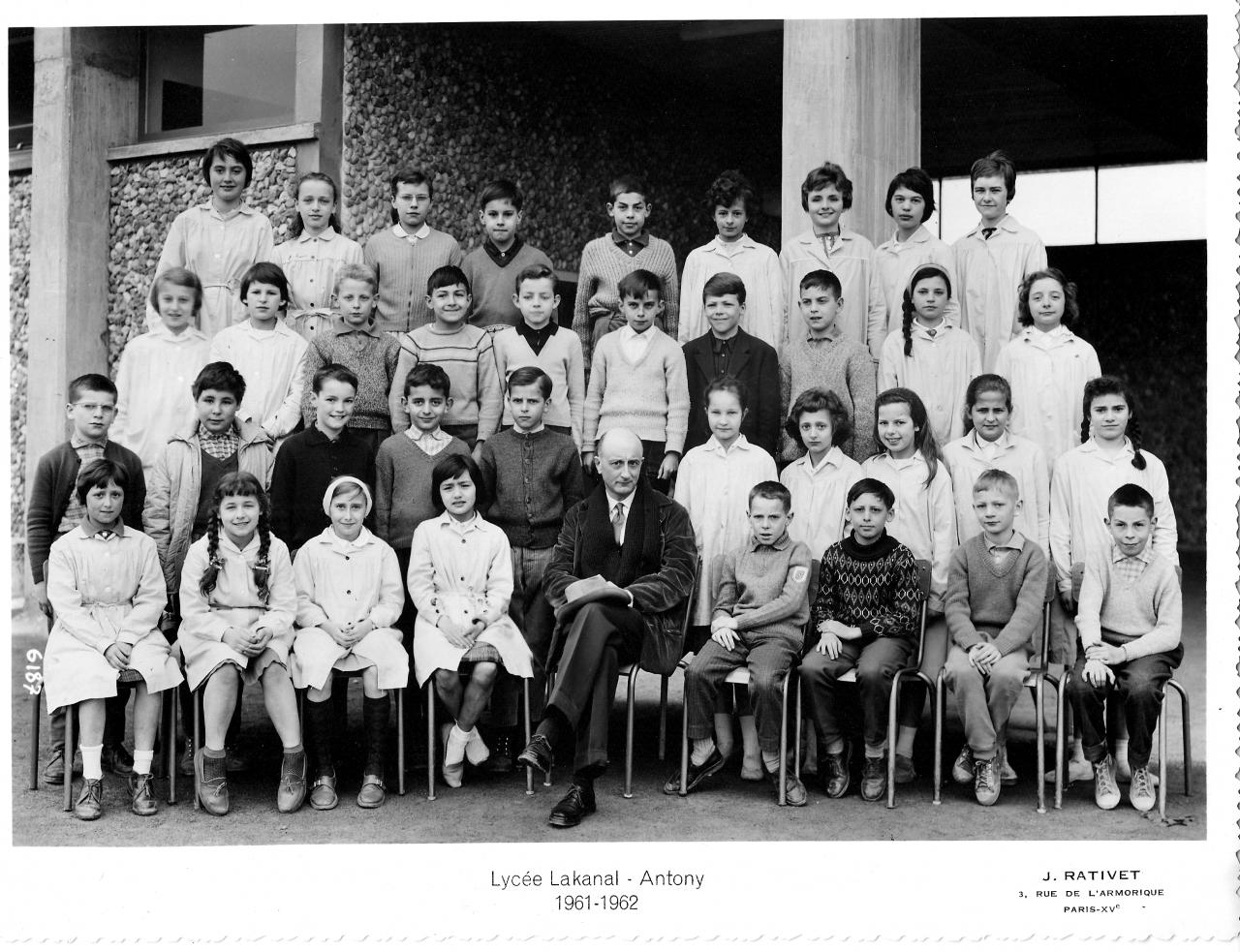 1961-62 - 6A3, avec Monsieur Charton