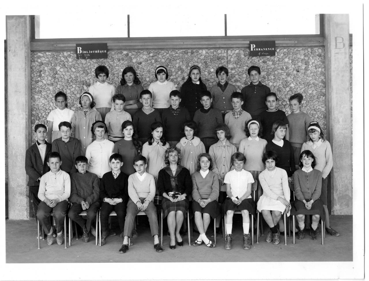 1962-63 5A8 avec Mme Sellier