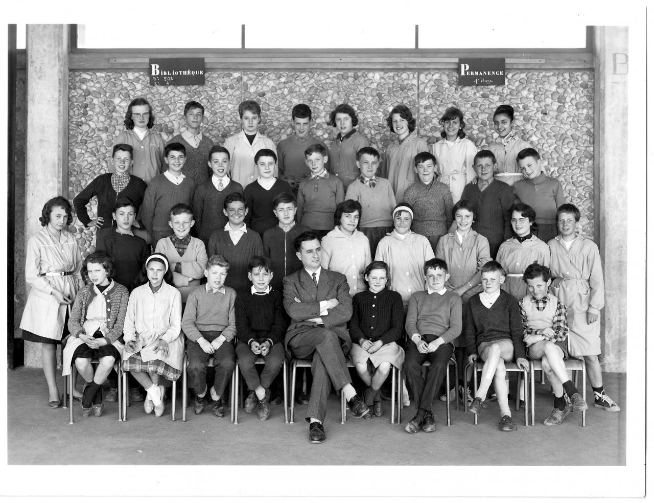 1962-63 - 5M1 avec Monsieur Dion.