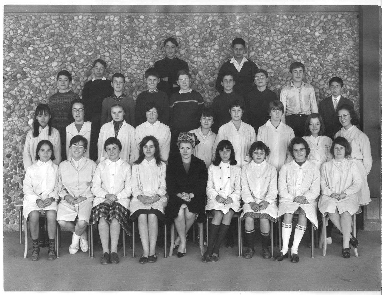 1964-65 - 4B6 avec Madame Samuel