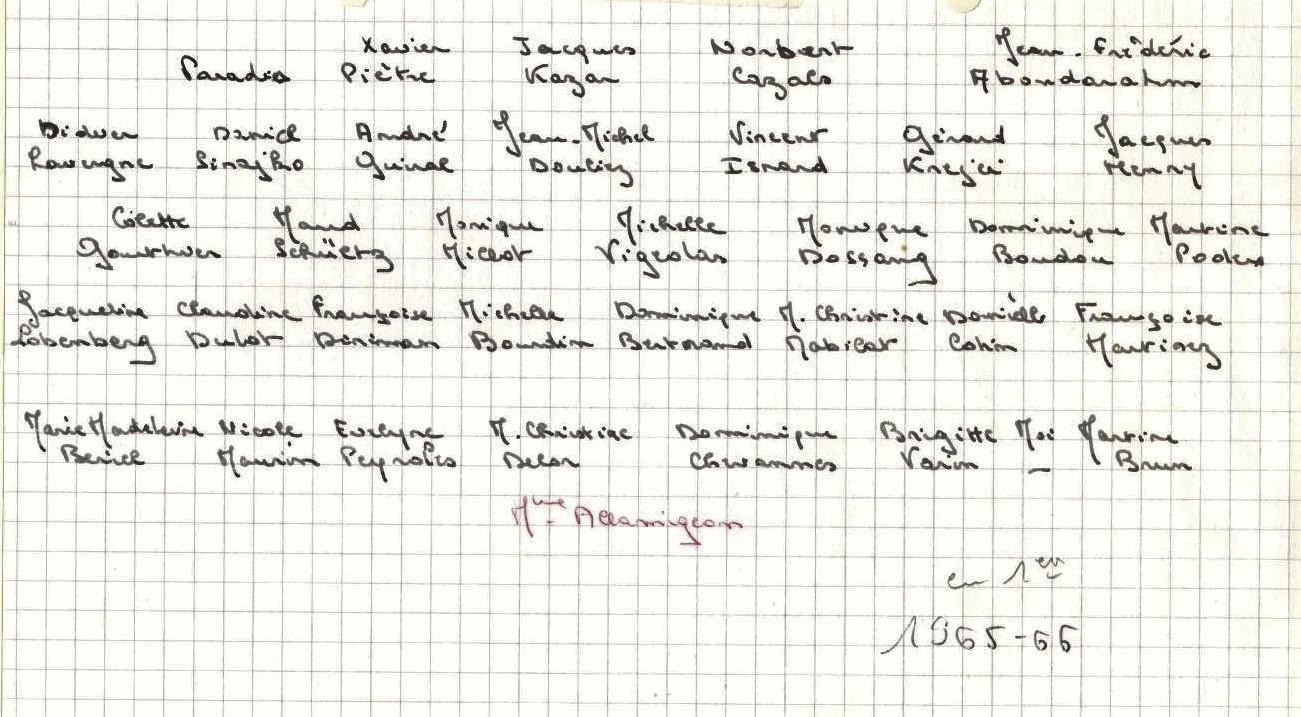 1965-66 1 AA'BC1 Noms