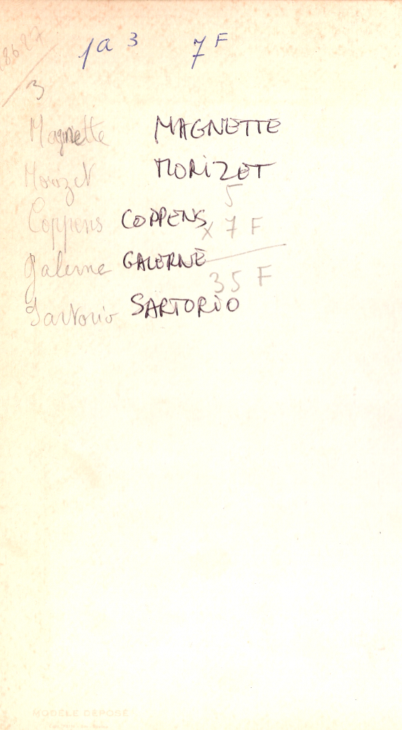 1967-68 - 1A3 - Noms