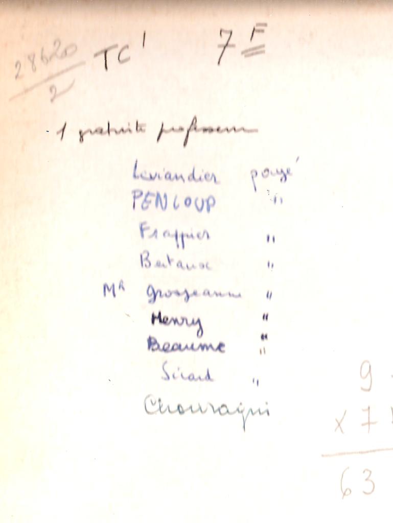 1968 - TC1 - Noms