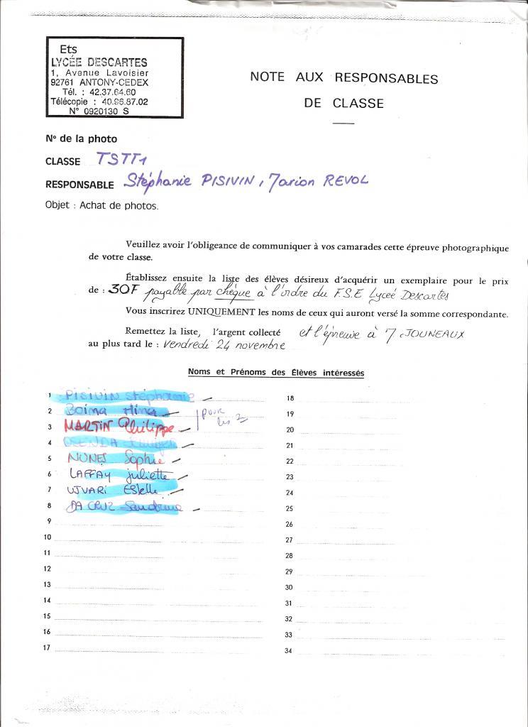1996 - TSTT1 - Noms