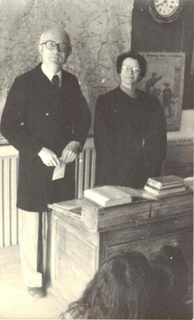 Madame Cagnon et Monsieur Jean en 1976