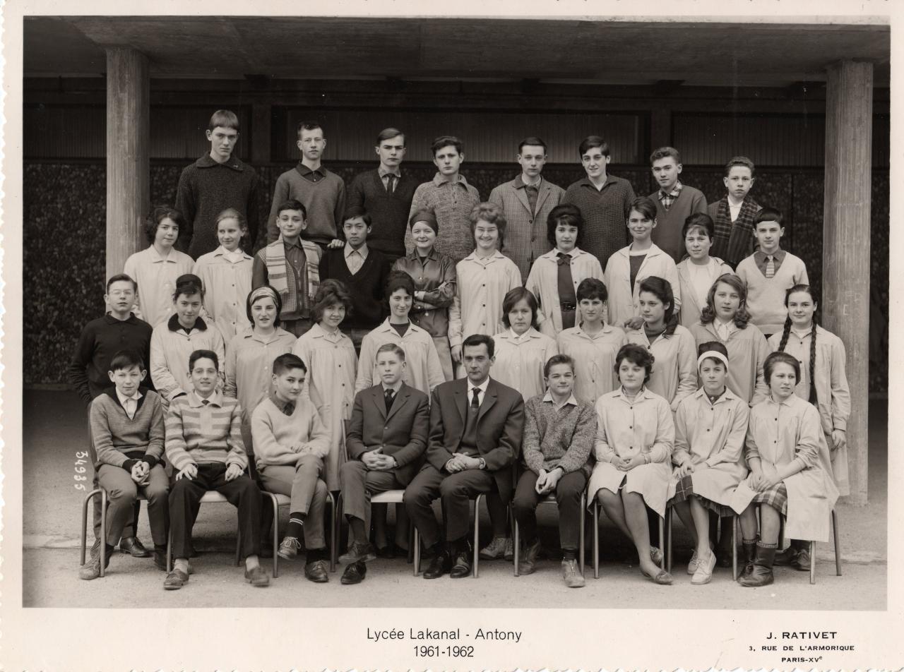 3eme M1 1961-62, avec M. Robert (Ang)