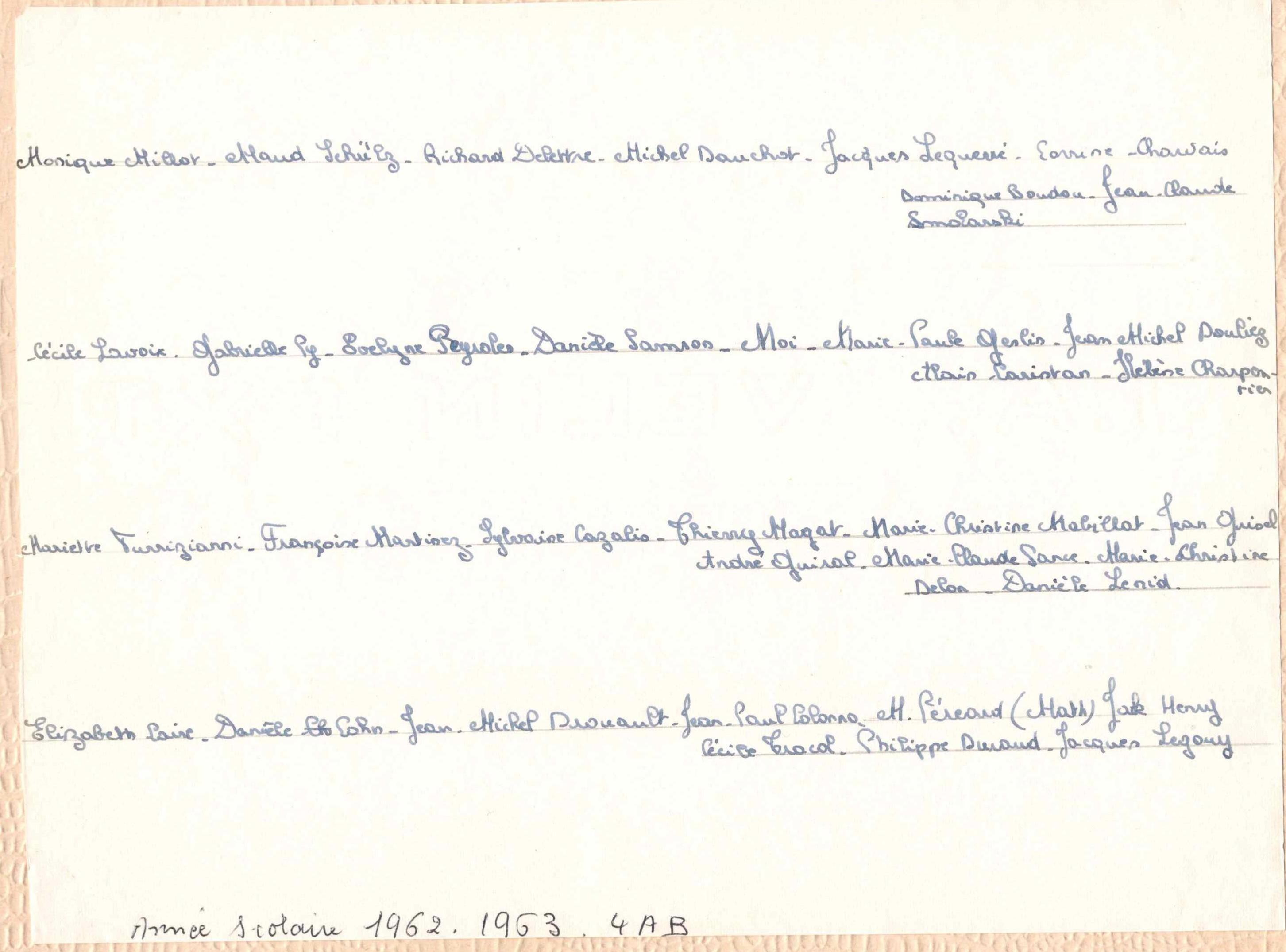 4AB 1962-63 Noms
