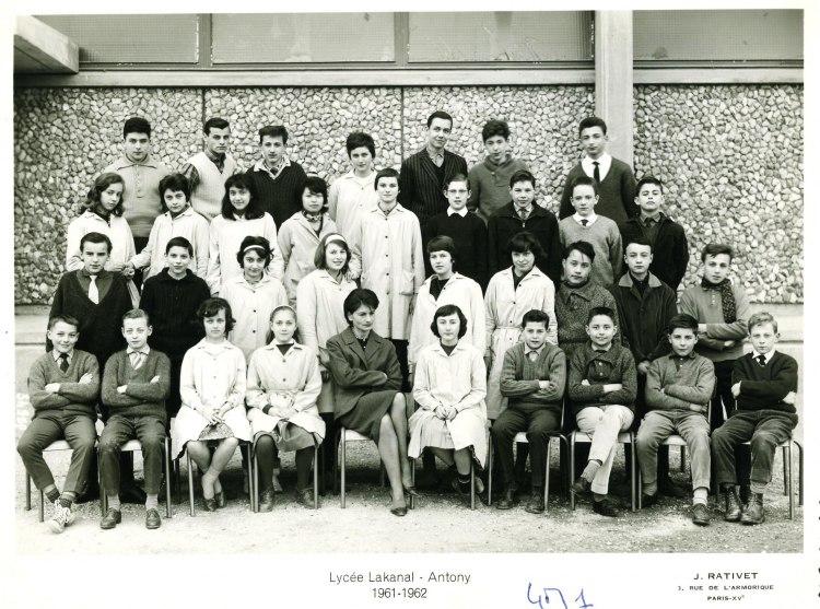 1961-62 - 4M1, avec Madame Astre