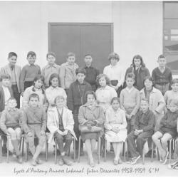 1958-59 6M avec Mlle Maes