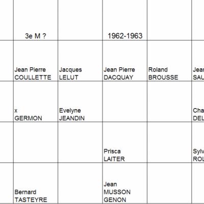 Classes rentrées 62-64