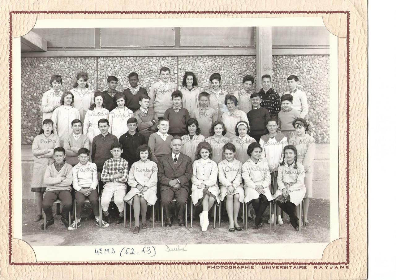 1962-63 4 M2 avec Mr Duché