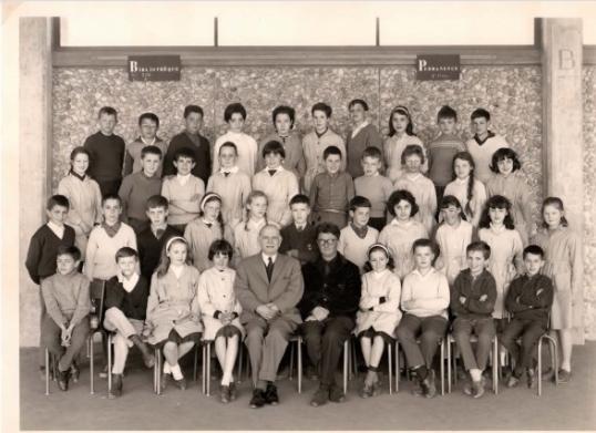 1962-63 6A4 avec Monsieur Segot et Monsieur Lequerré