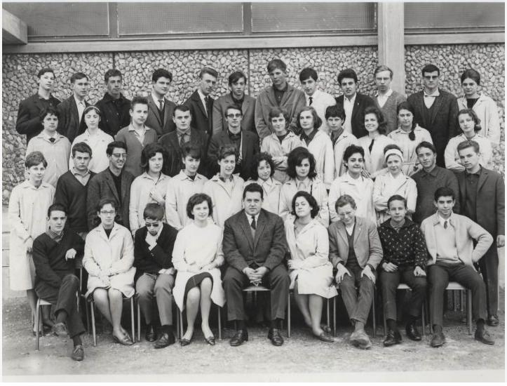 1962-63 1ère M, avec Monsieur Coggia