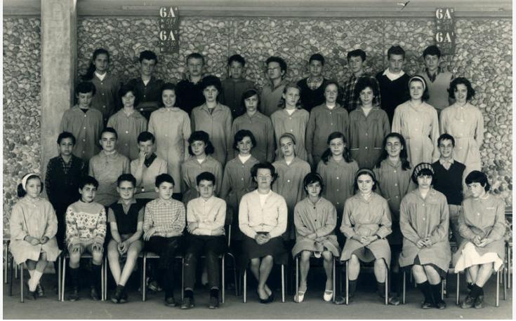 1963-64 5 A6, avec Mme Cagnon