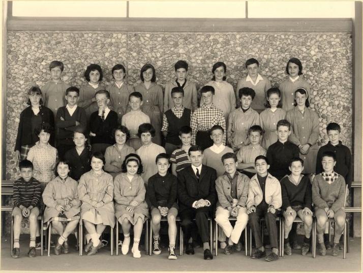 1963-64 5A7 avec Monsieur Barbier