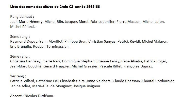 1965-66 2C2 Noms