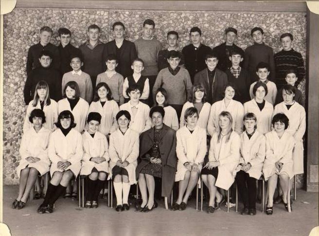 1965-66 3B4 avec Madame Jeanpierre