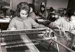 Atelier de tissage.
