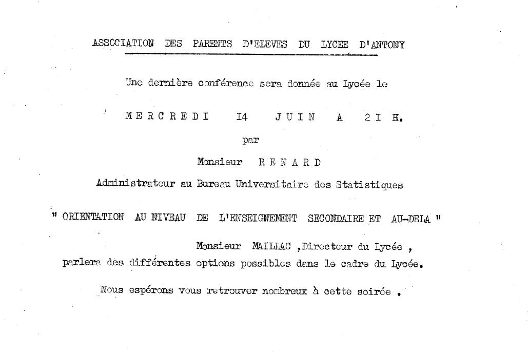 Conférence 14 juin 1961