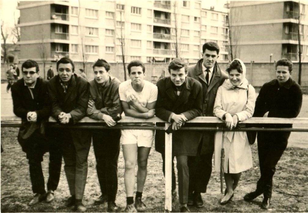 Photo prise lors du tournoi interclasses de rugby, 1963