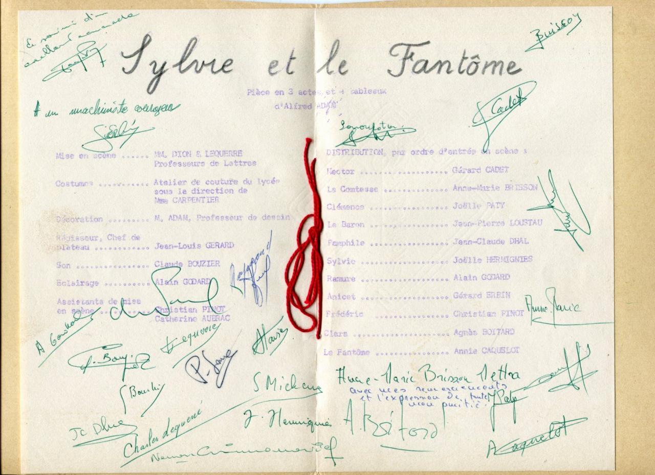Distribution et signatures 24 juin 1961