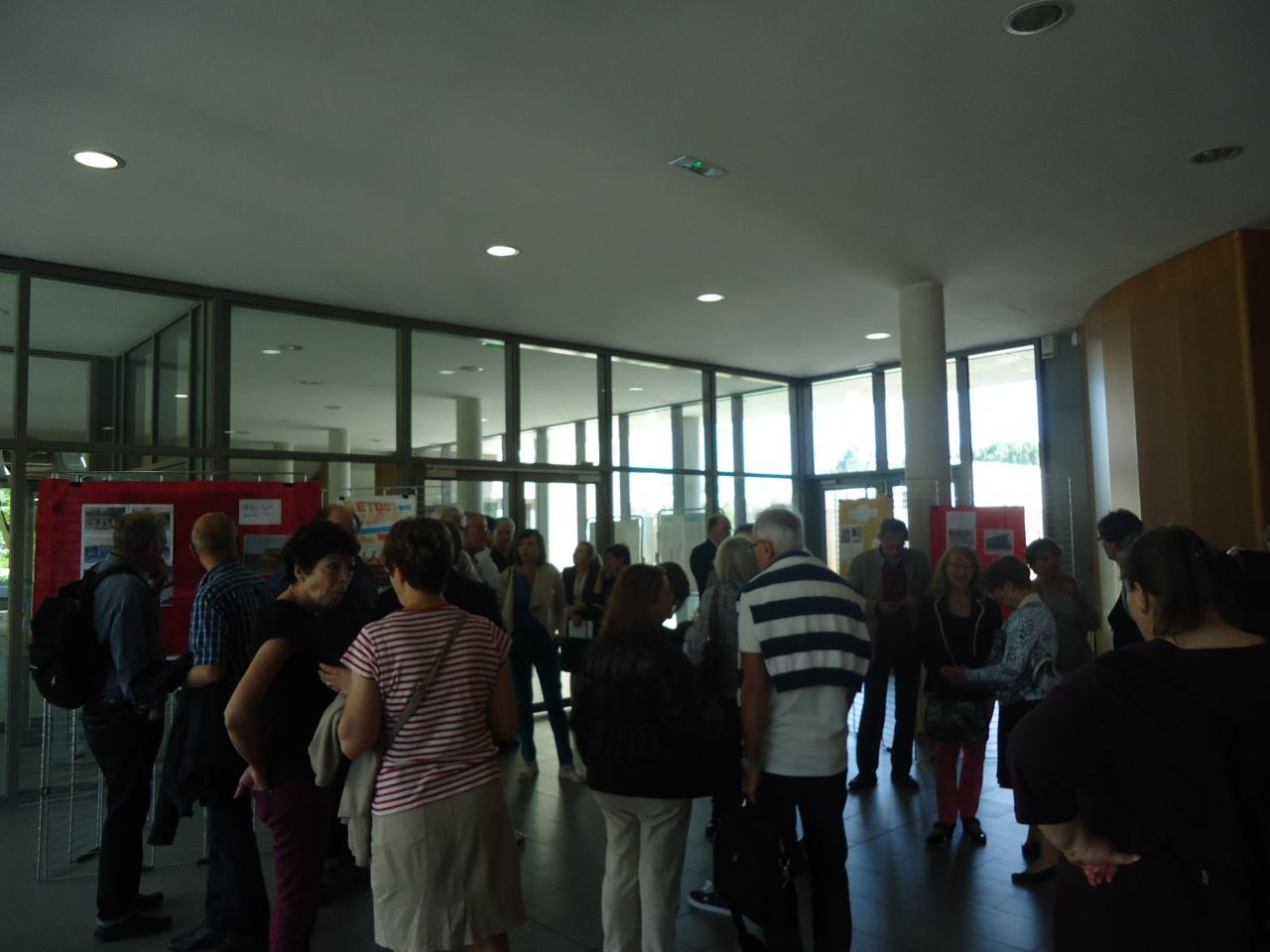 Une quarantaine de privilégiés, répartis en 2 groupes pour la visite.