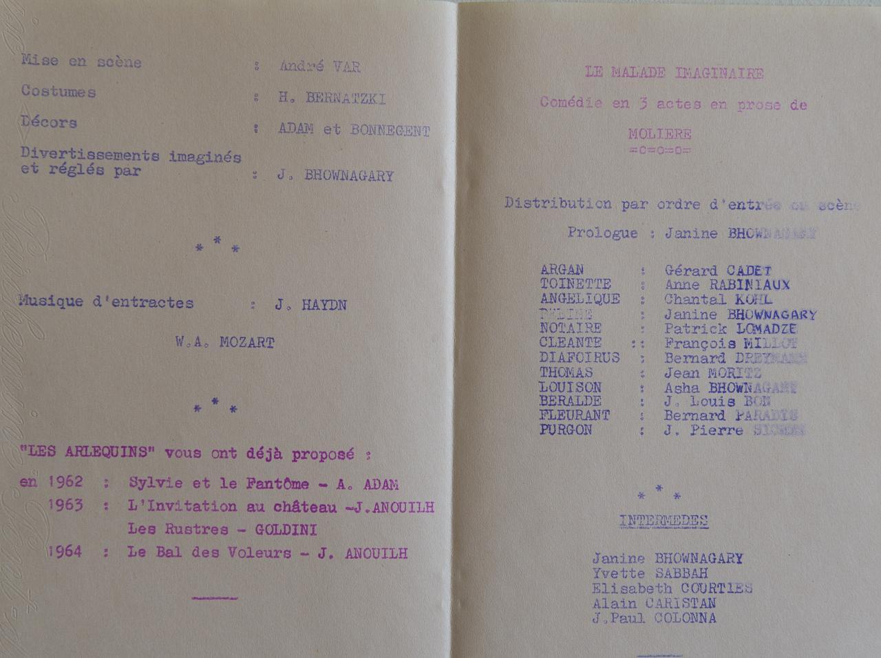 Programme 1965
