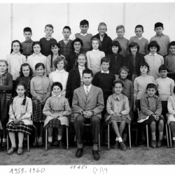 1959-60 6A4, avec Monsieur Loubaton