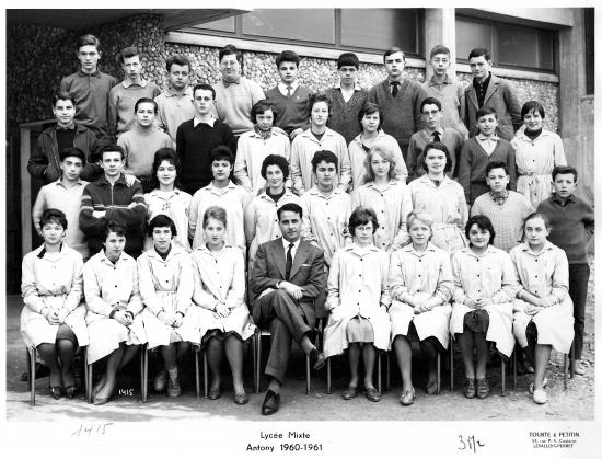 3ème M2 1960-61 avec M. Loubaton