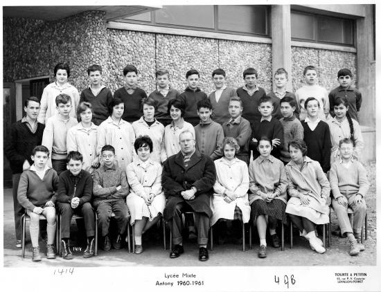 1960-61 4AB, avec Monsieur Rigoulet (Fr)