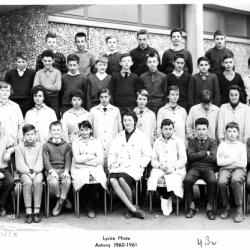 1960-61 4B2, avec Madame Salanskis