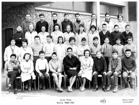 1960-61 4M3. Avec Mme Jeanpierre