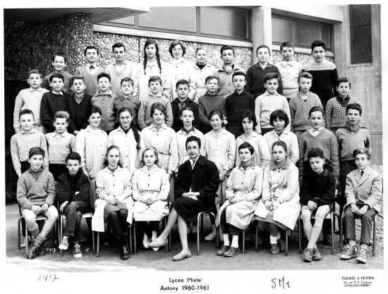 1960-61 5M1 avec Madame Jeanpierre