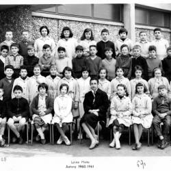 1960-61 6A1 avec Mme Jeanpierre (HG)