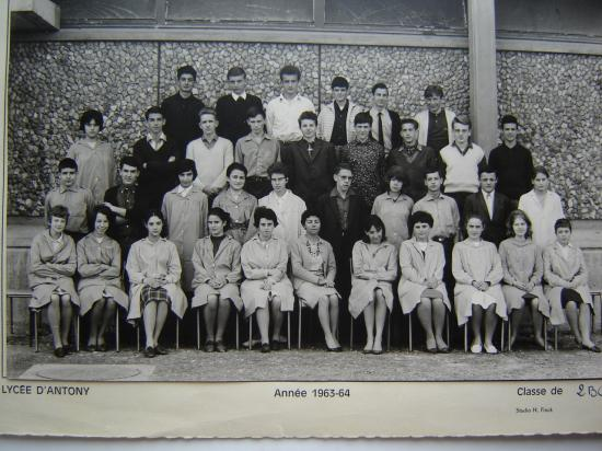 2nde BC. 1963-1964 avec Mme Allamigeon
