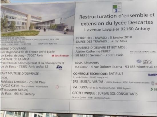 2011-2014.Travaux au Lycée.