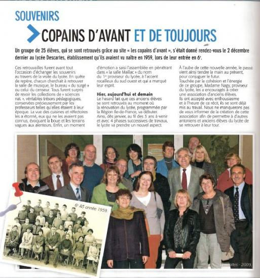 2 Décembre 2009. Visite du Lycée.