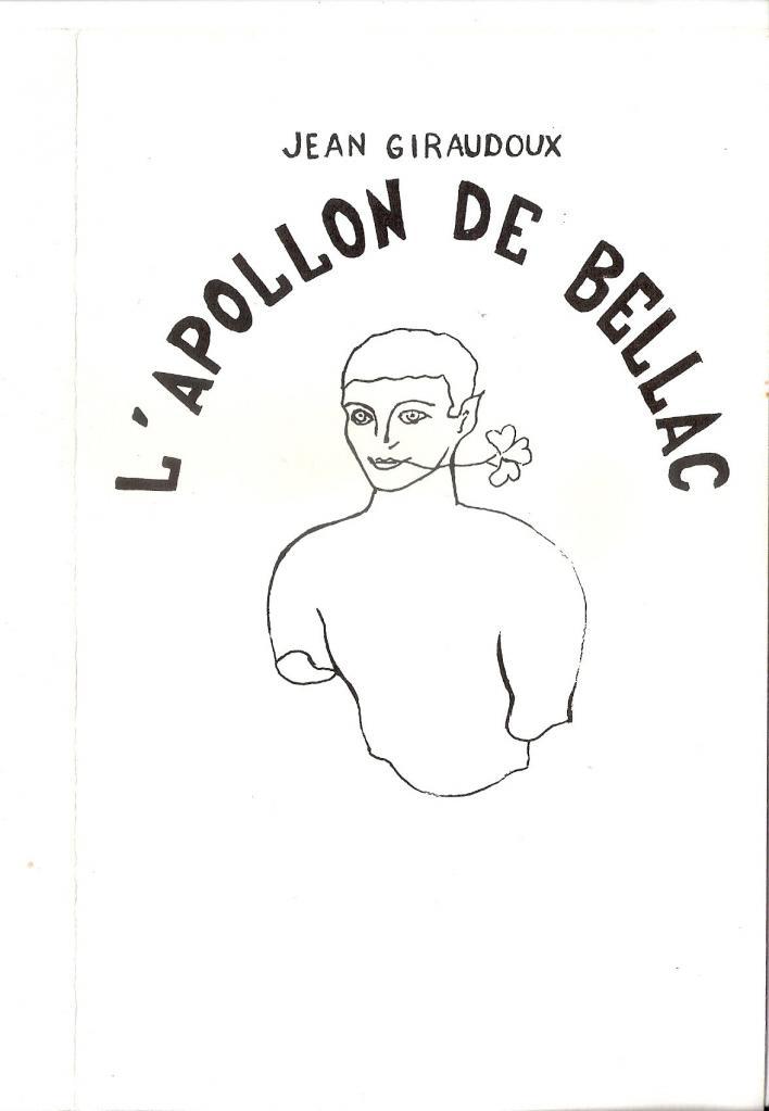L'Apollon de Bellac de Jean Giraudoux - Couverture