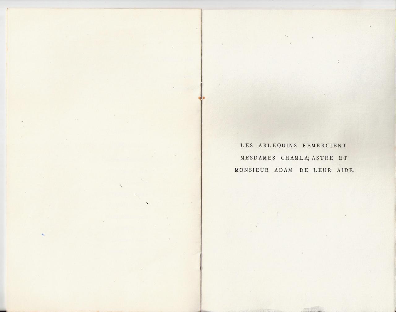 Programme 1963