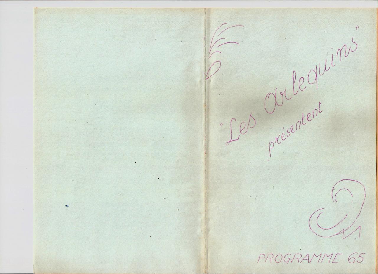 Les Arlequins - Programme 1965