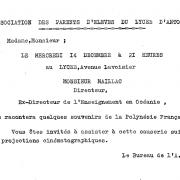 Maillac. Invitation à une causerie. 1960
